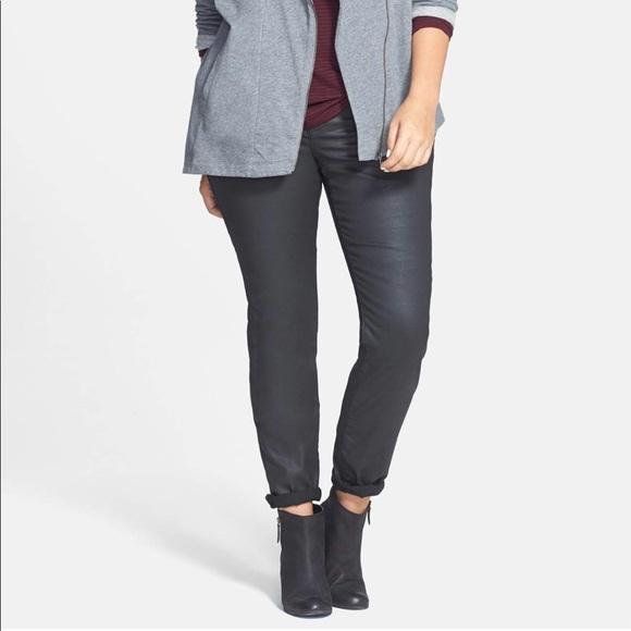 c361bbc7f67 Eileen Fisher Denim - Eileen Fisher Woman Waxed Skinny Jeans plus size